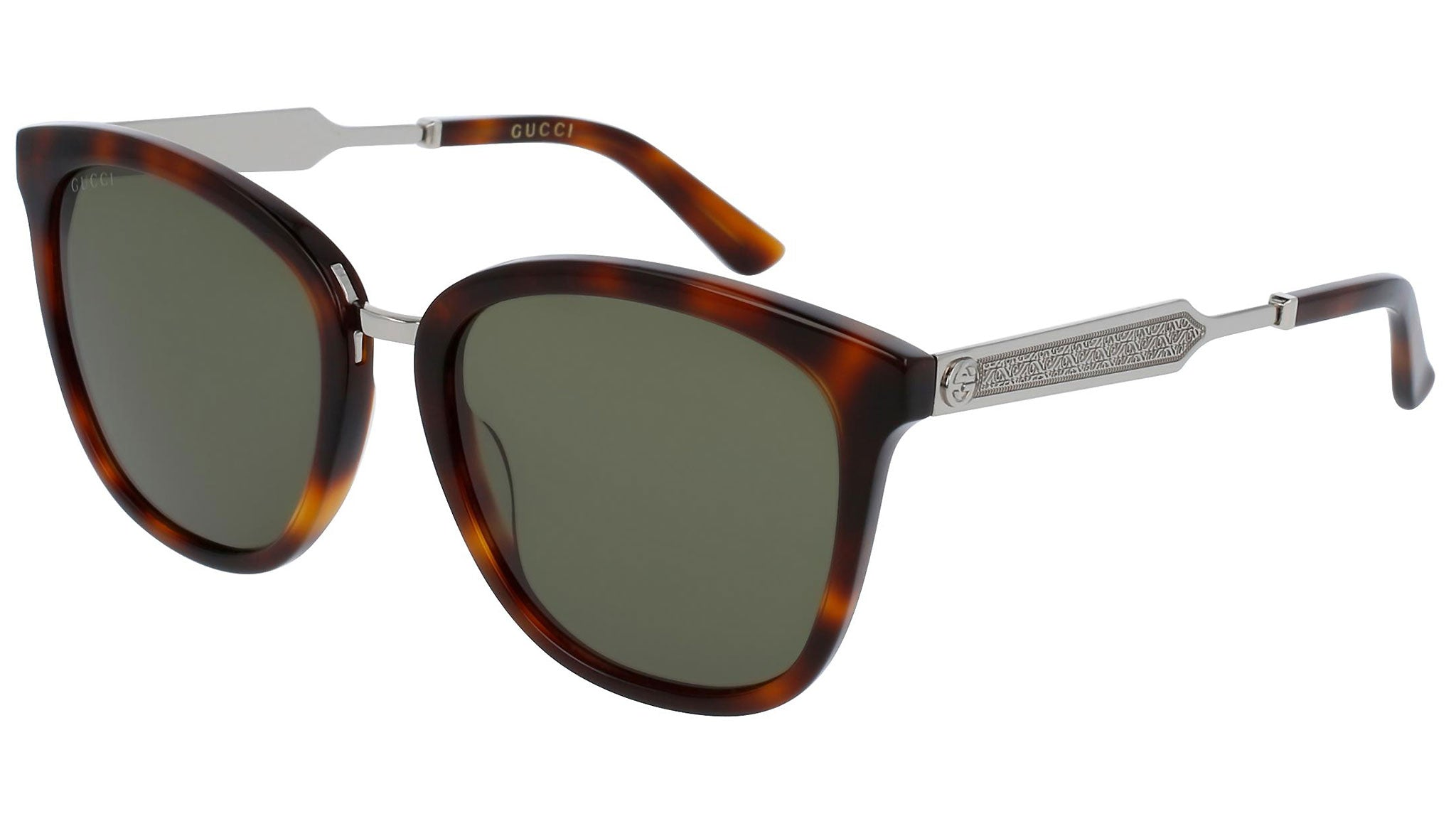 GG0073S silver havana and green