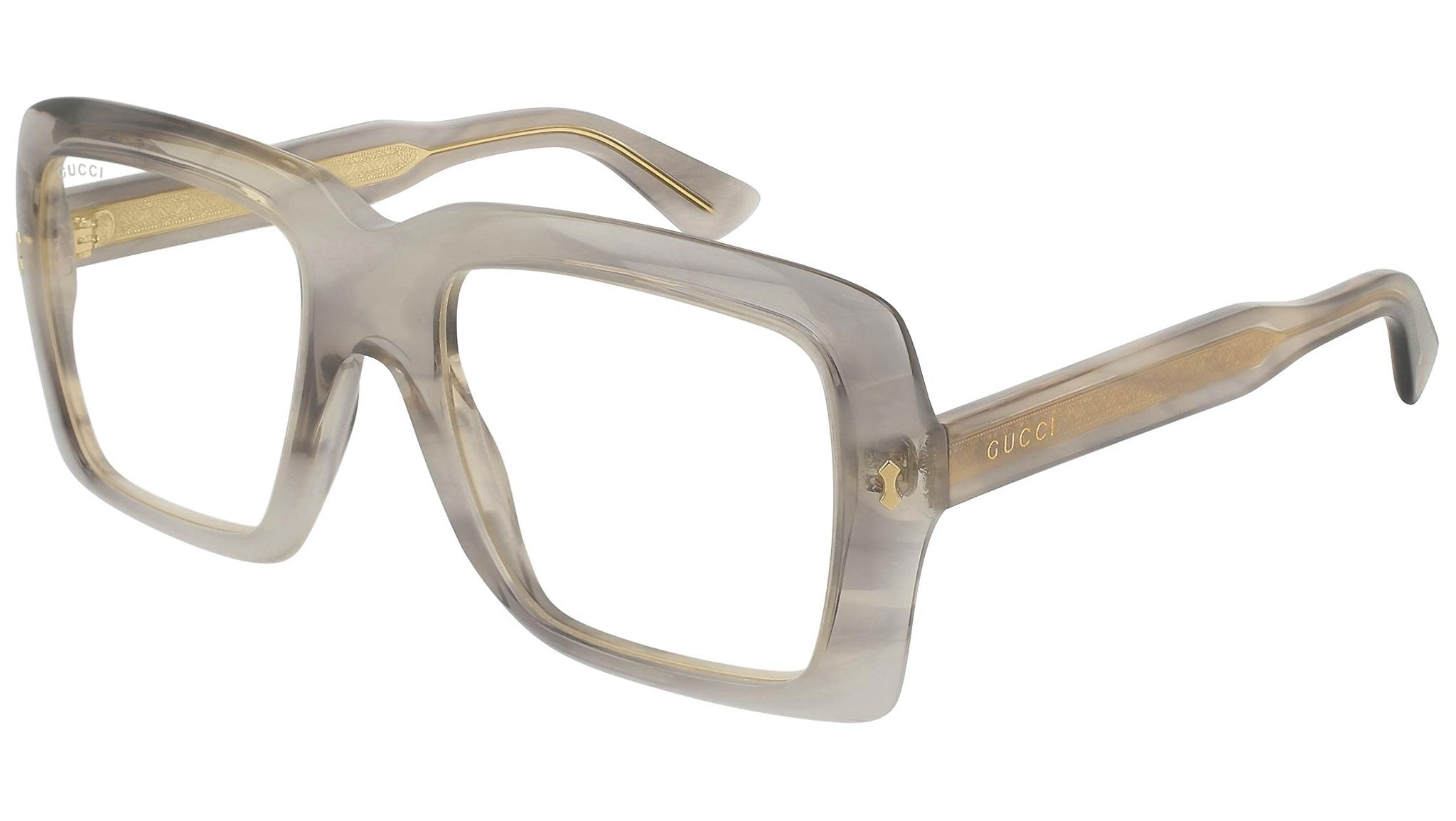 GG0366S grey havana and clear