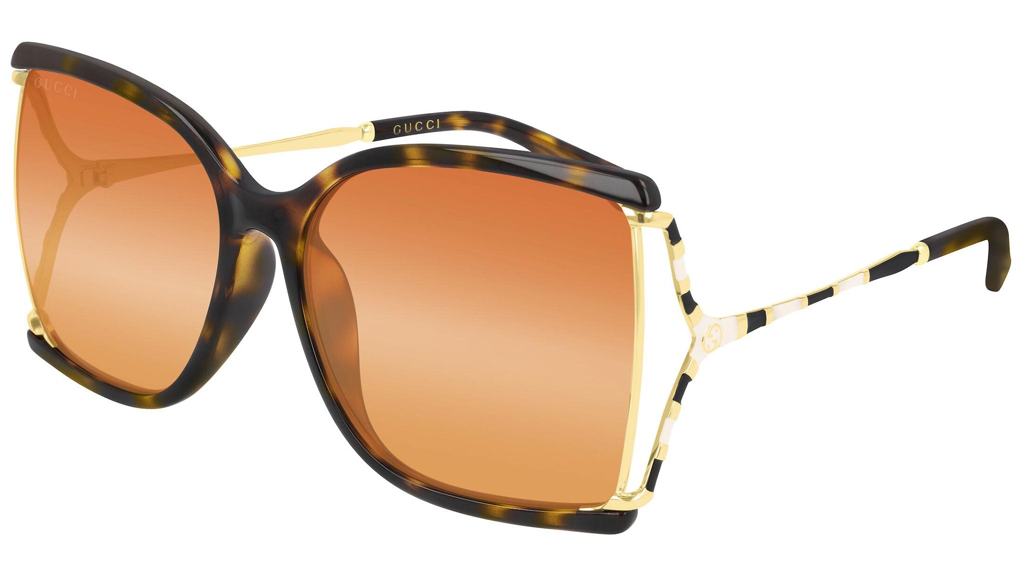 GG0592SK gold havana and triple orange/yellow