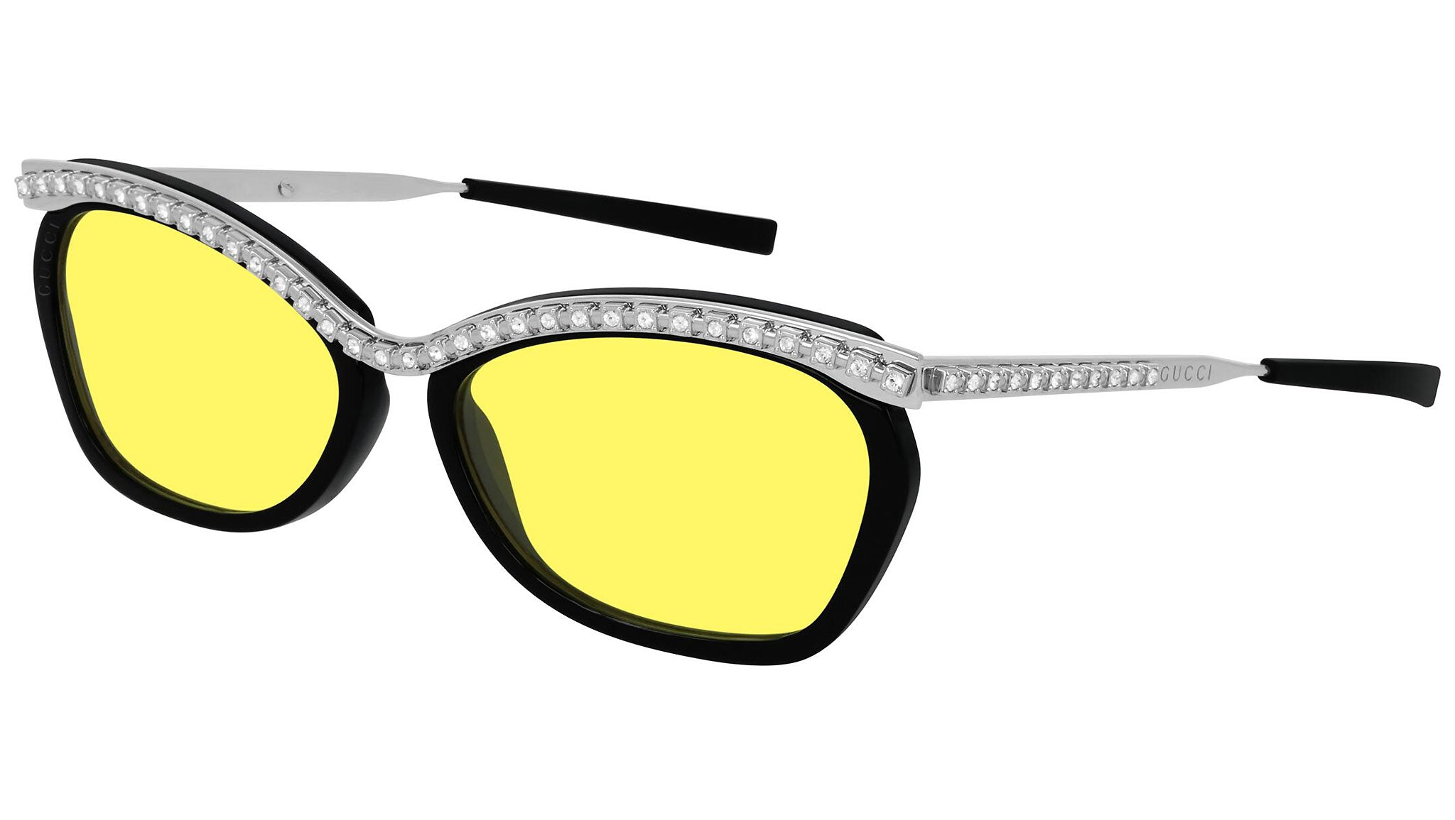 GG0617S crystal black and bright yellow