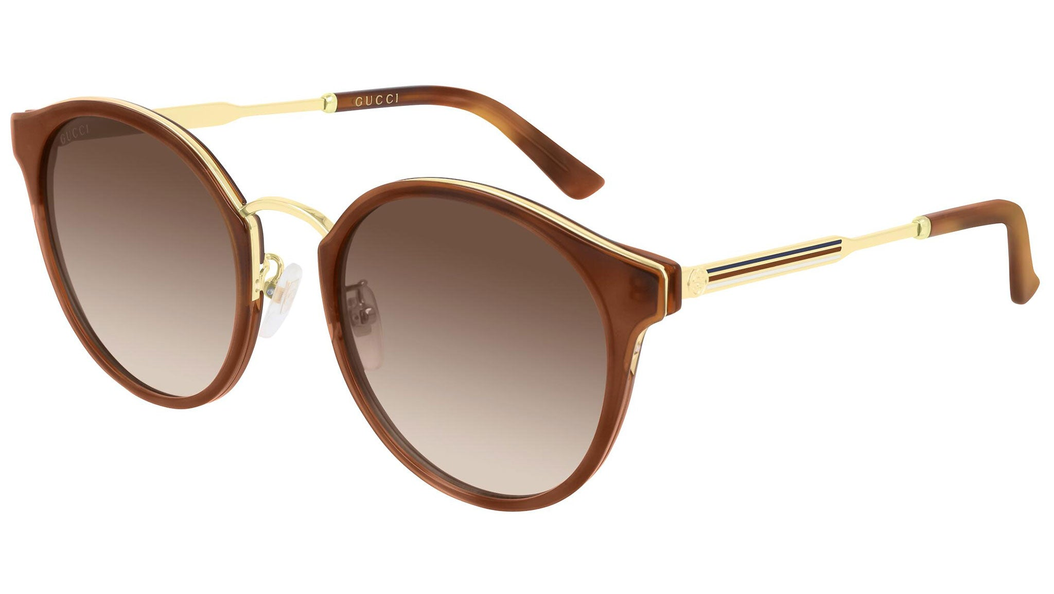 GG0588SK gold havana and brown