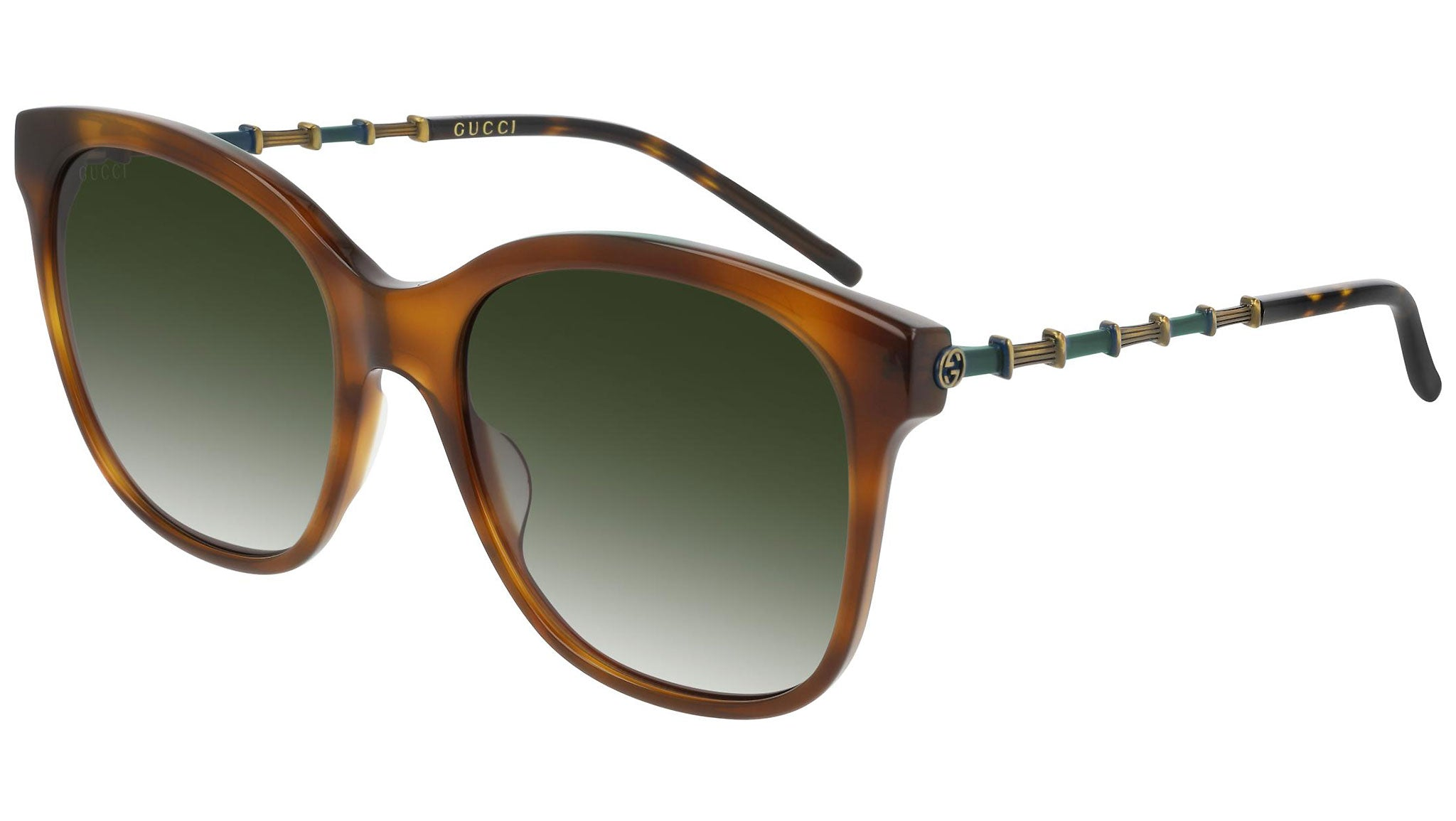 GG0654S brown havana and green