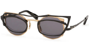 MM-0044 No.1 Black and Gold Sunglasses
