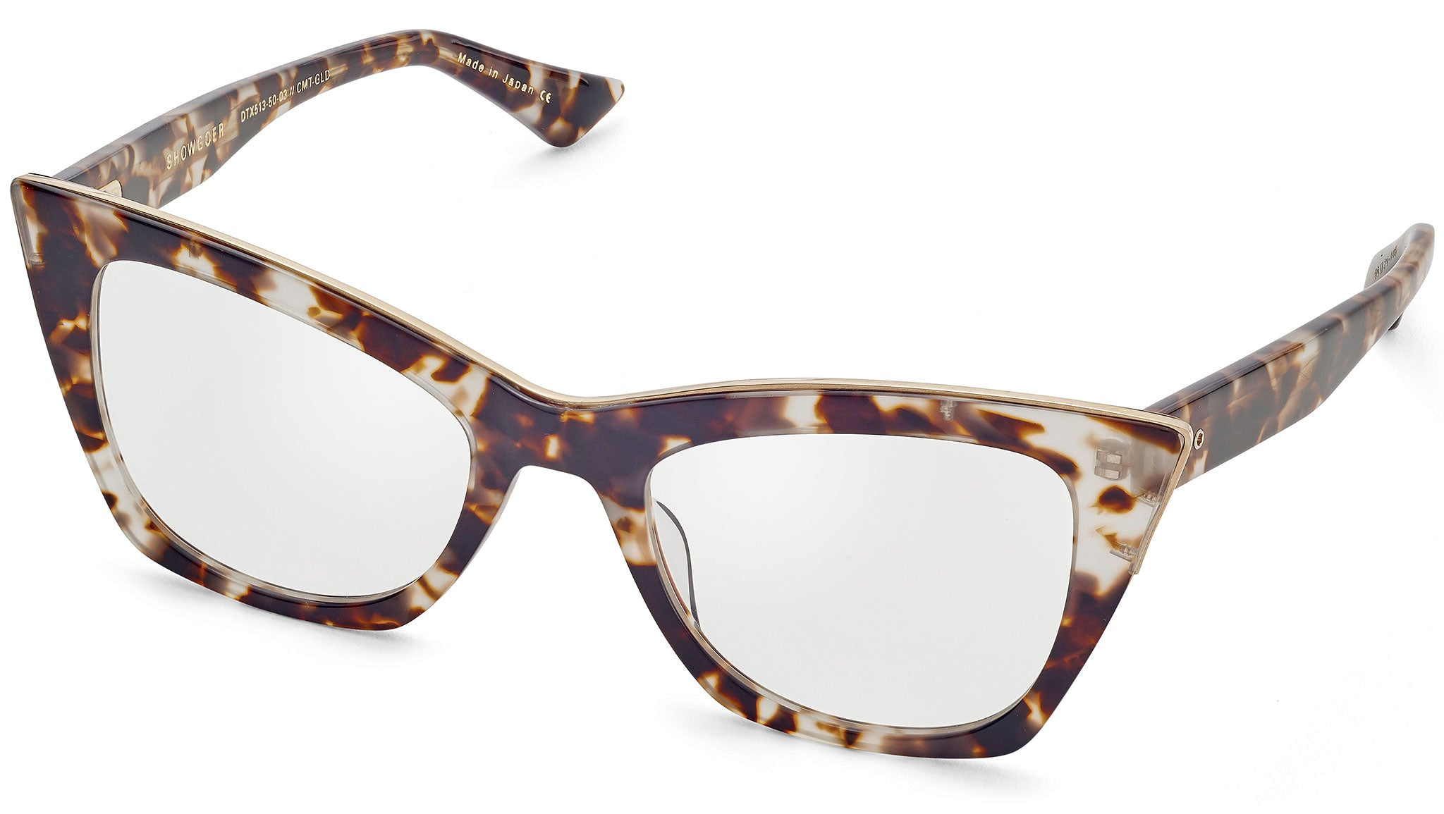 Showgoer DTX 513 03 cream tortoise and gold