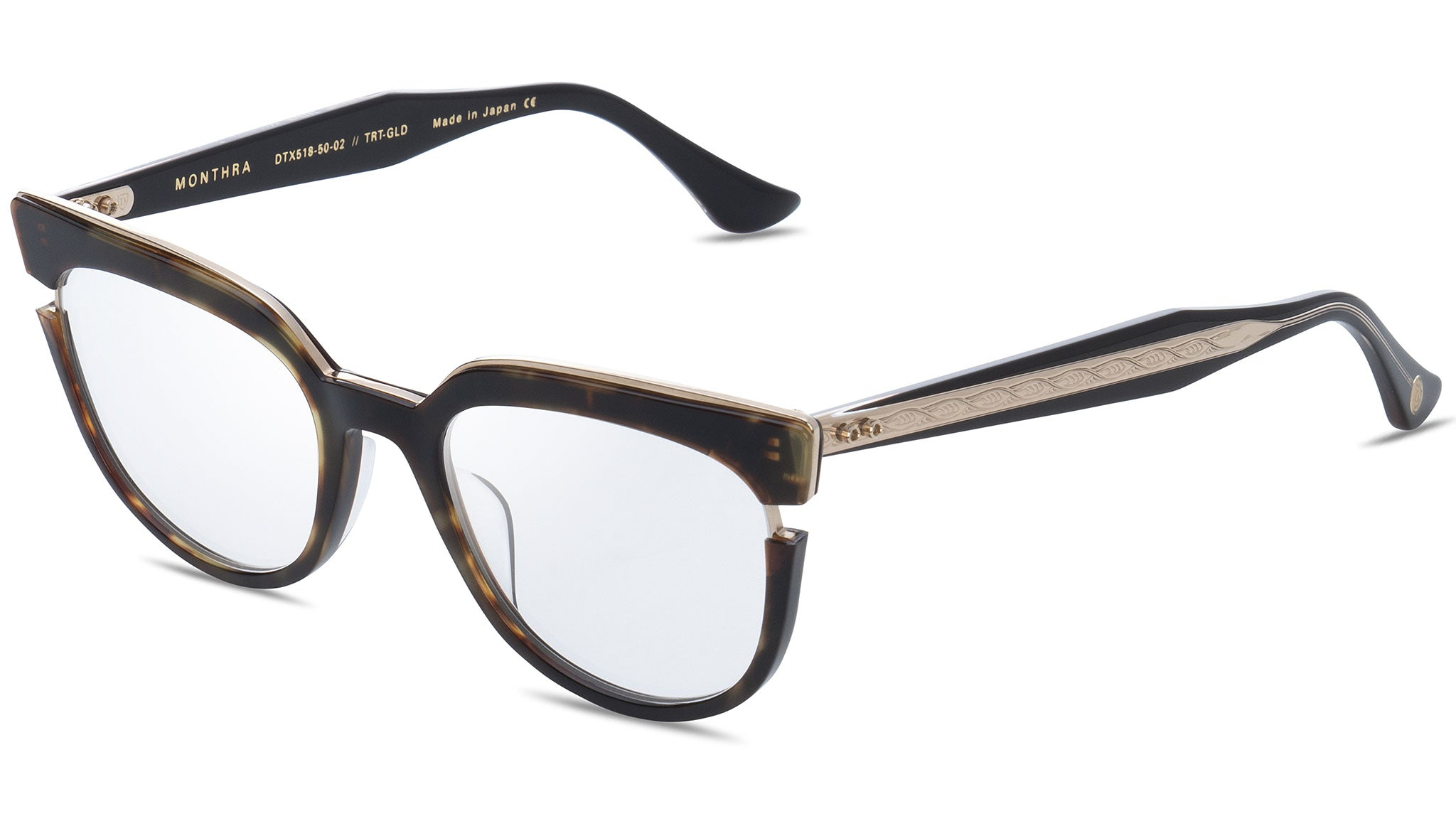 Monthra DTX 518 02 dark tortoise and gold