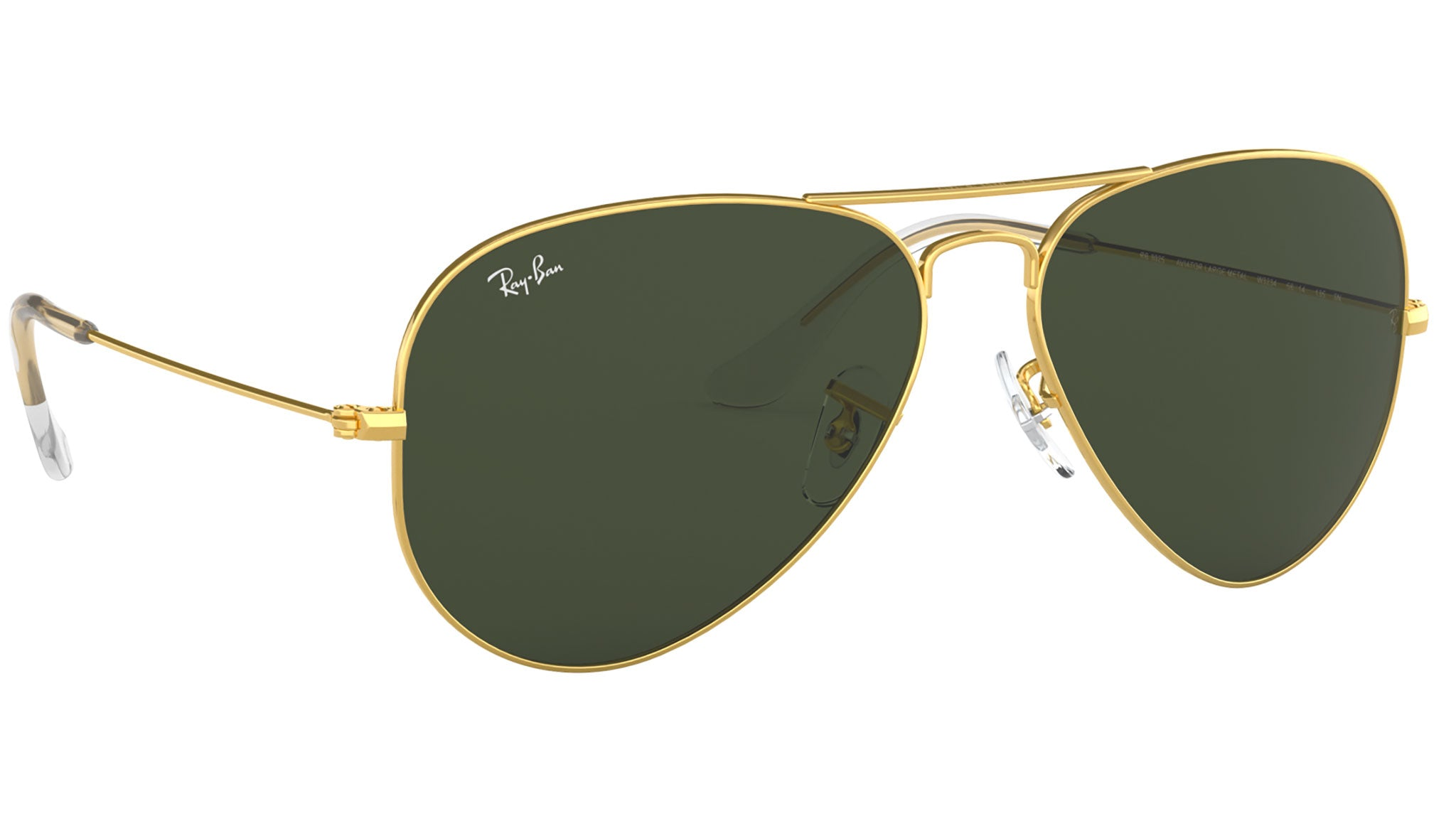 Aviator Classic RB3025 gold metal green