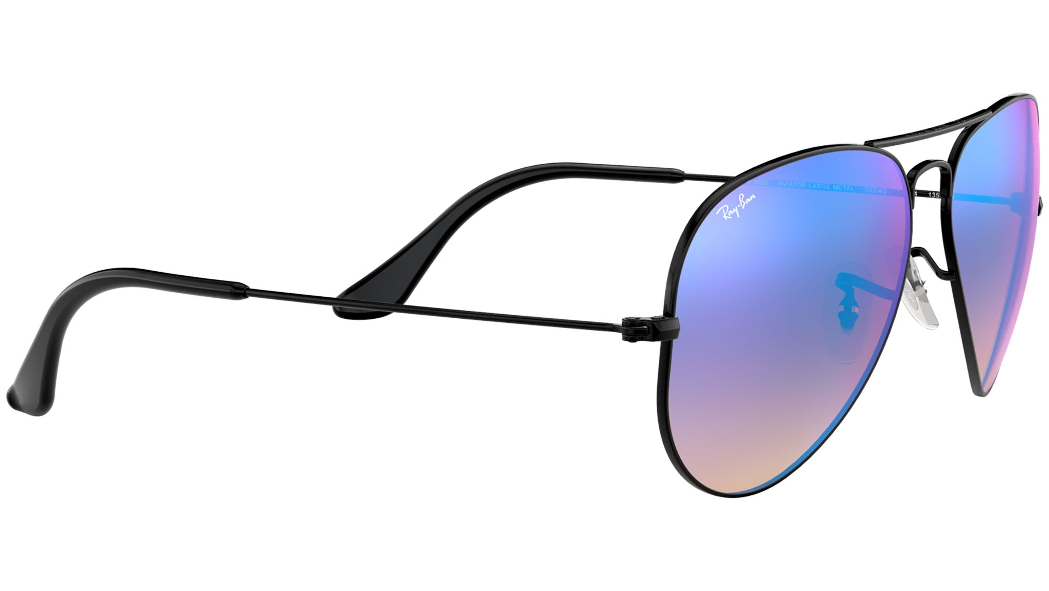 Aviator Flash Lenses Gradient RB3025 black