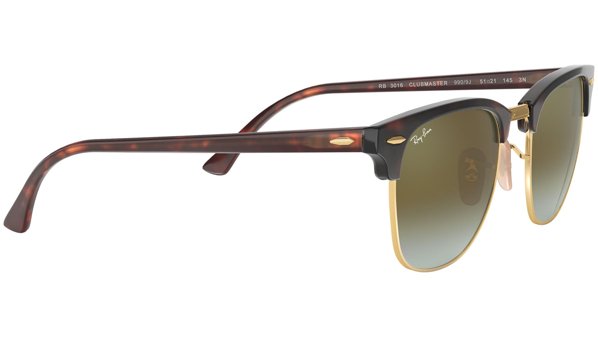 Clubmaster Flash Lenses RB3016 shiny red havana