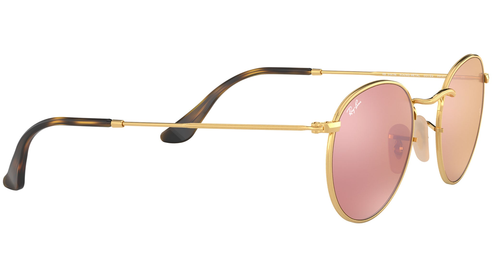 Round Flat Lenses RB3447N gold copper