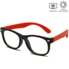 KidzCo MultiFlex Screen Time Glasses (UV400) - BLACK/RED