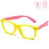 KidzCo MultiFlex Screen Time Glasses (UV400) - YELLOW/PINK