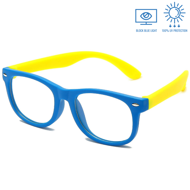 KidzCo MultiFlex Screen Time Glasses (UV400) - BLUE/YELLOW