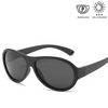 KidzCo MultiFlex Aviator Sunglasses (UV400) - BLACK