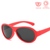 KidzCo MultiFlex Aviator Sunglasses (UV400) - RED