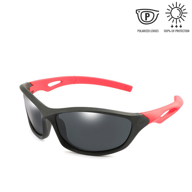 KidzCo MultiFlex Sport Sunglasses (UV400) - BLACK/RED