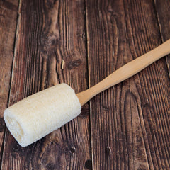 LOOFAH BRUSH WITH HANDLE