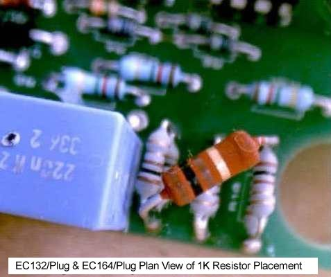 EC132/Plug & EC164/Plug Plan View of 1K Resistor Placement
