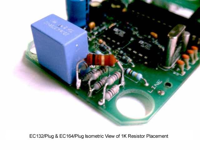 EC132/Plug & EC164/Plug Isometric View of 1K Resistor Placement