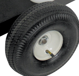 Pneumatic tires on heavy duty frame