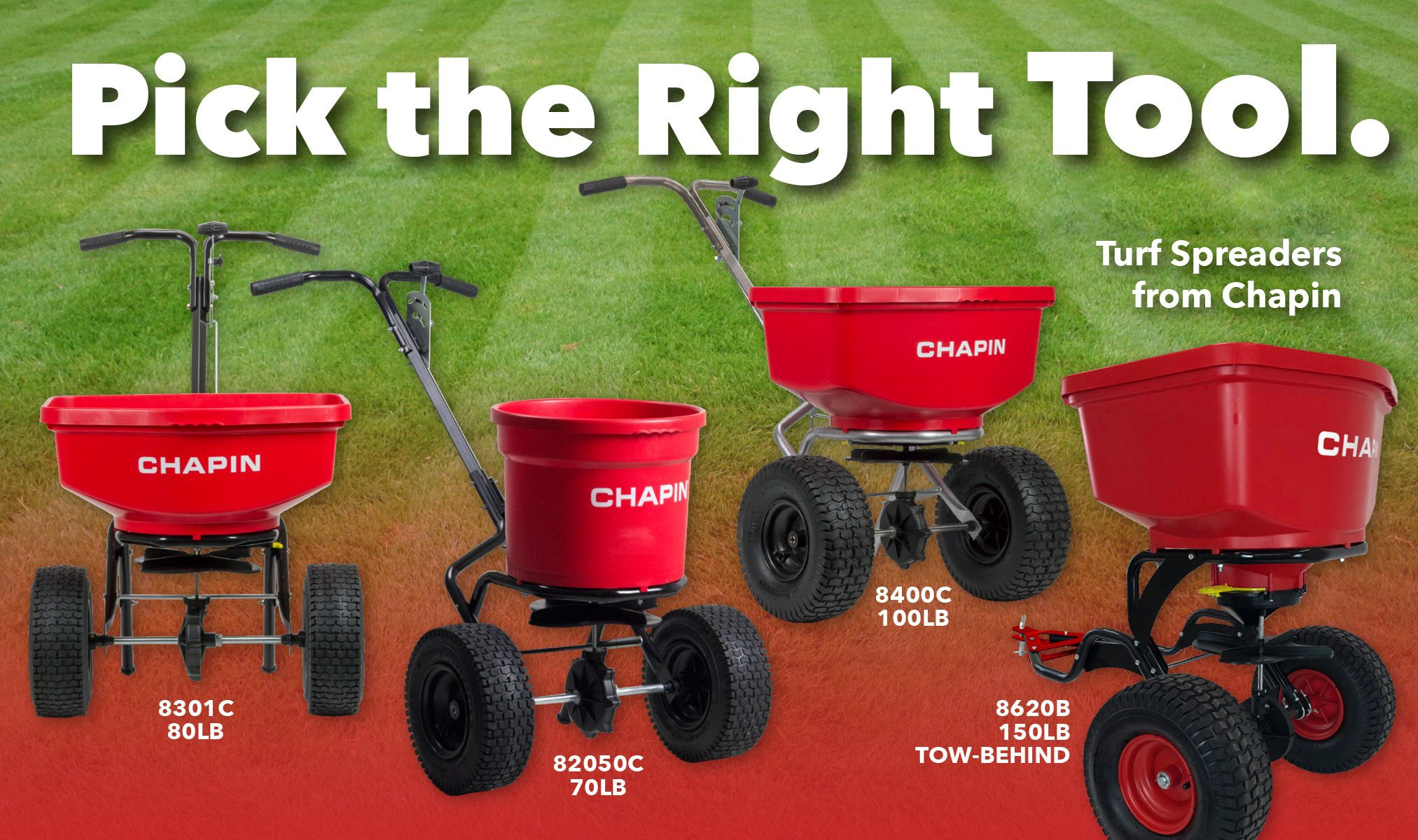 Pick the right too - turf spreaders from Chapin