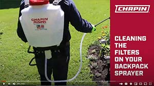Cleaning the filters on a Chapin backpack sprayer