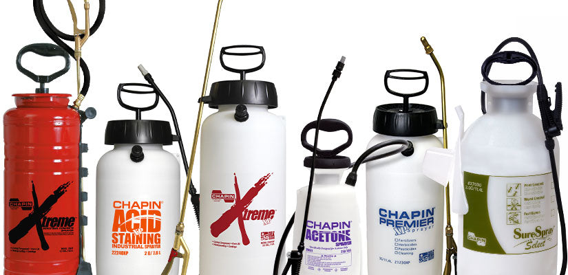 Chapin hand pump sprayer lineup