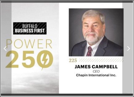 James Campbell - Power 250 list - top WNY Company Leaders Chapin International