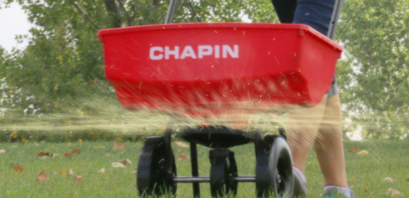 Chapin Residential Turf Spreader in use