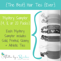 {The Best} Hair Ties {Ever} Mystery Sampler - Try all our different types of Hair Ties in one convenience pack!