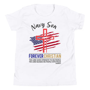 Navy Son Youth  T-Shirt