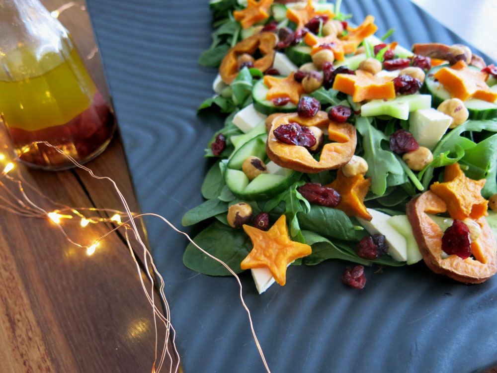 Sweet Potato & Pumpkin Christmas Star Salad Recipe