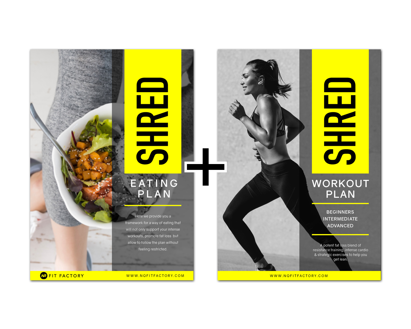 SHRED PACK - WORKOUT AND EATING PLANS