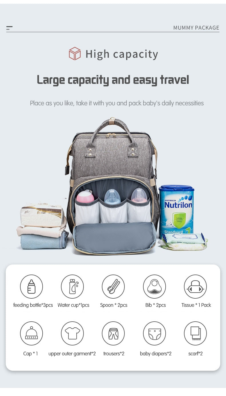 2 in 1 Diaper & Changing Bag