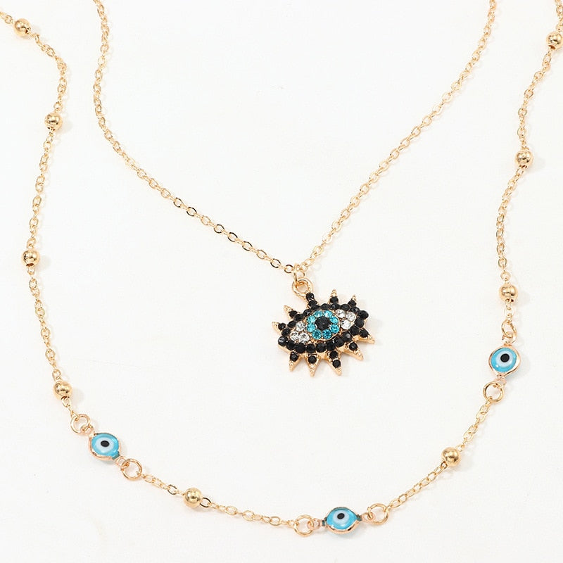 Vintage Lucky Evil Eye Necklace