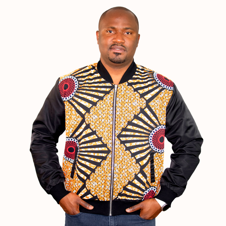 Shiloh African Print Bombers - Orange