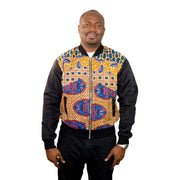 Shiloh African Print Bombers - Maroon