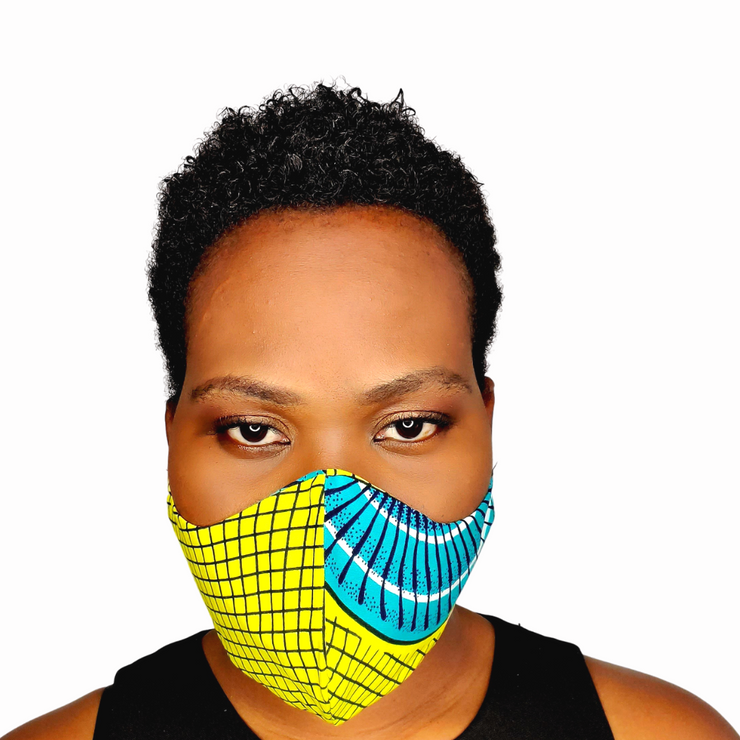 Adwoa Face Mask With Adjustable Elastic Band - Lime