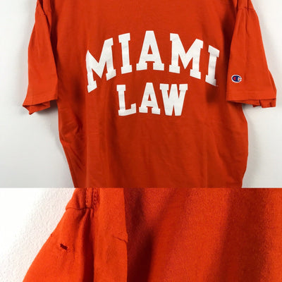 Champion x Miami Law T Shirt L-Greenstreet-Vintage