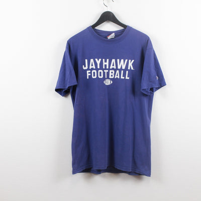 Vintage Champion x Jayhawk Football T-Shirt L-Greenstreet-Vintage