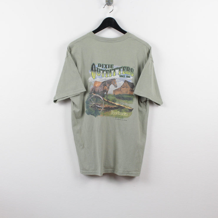 Vintage Dixie Outfitters Graphic T-Shirt L-Greenstreet-Vintage