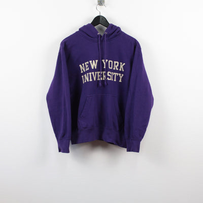 Vintage New York University Hoodie M-Greenstreet-Vintage