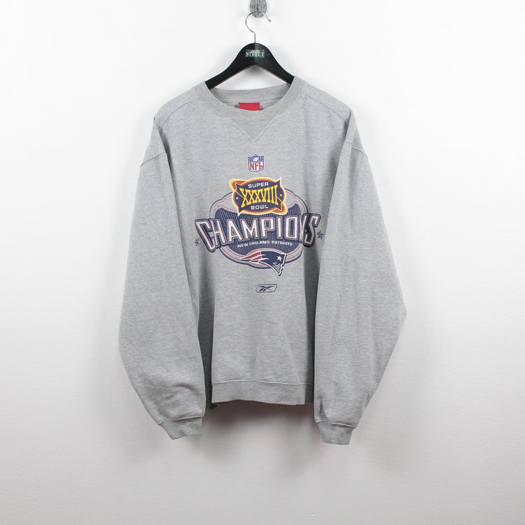 Vintage Reebok x Patriots Super Bowl Champions Sweater oversized M-Greenstreet-Vintage