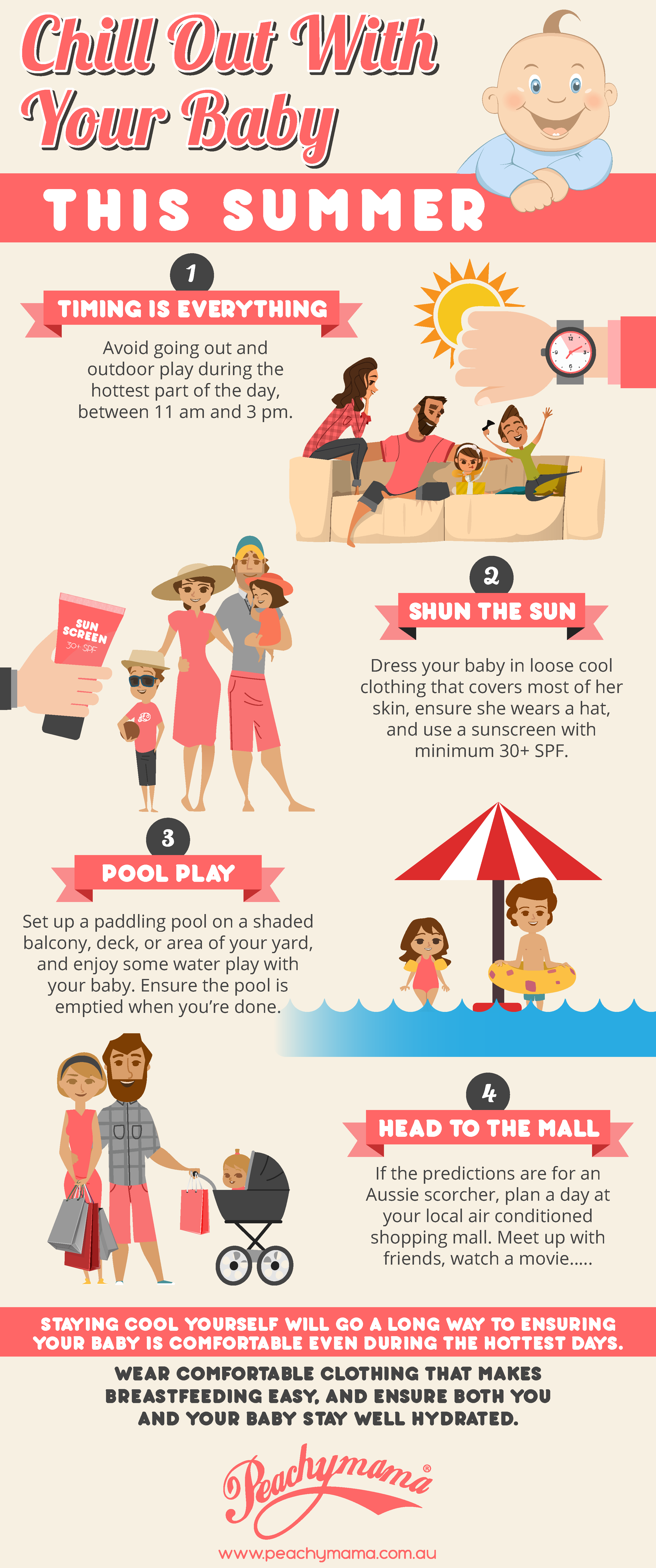 Chill out with your baby this summer - infographic