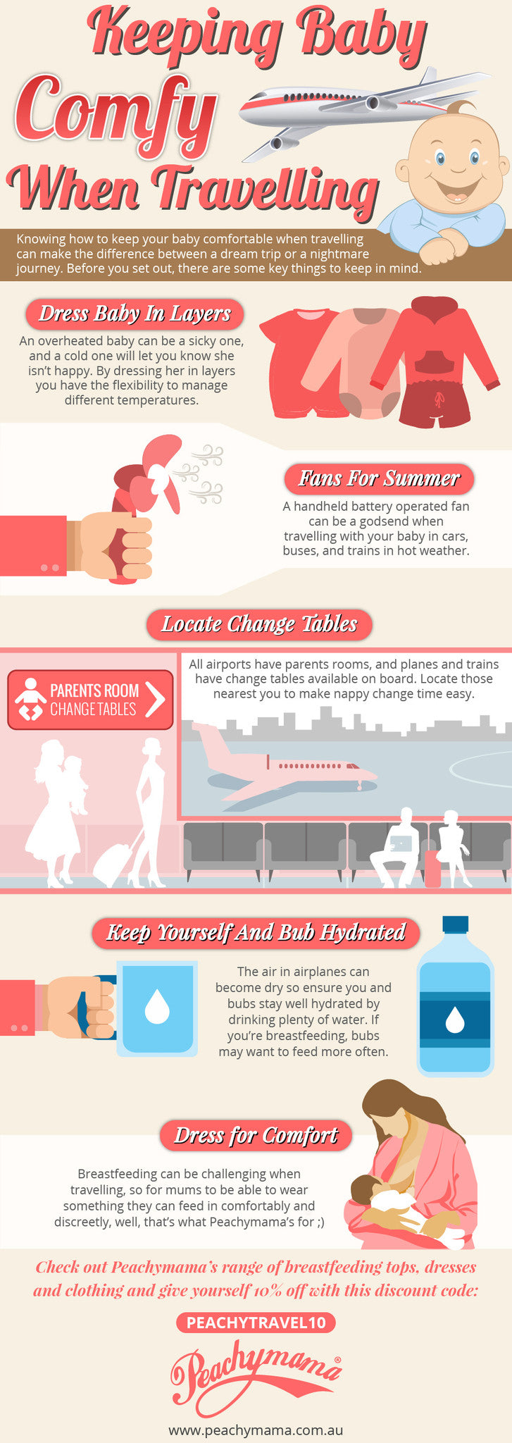 338a5d6f0e79 Keeping Baby Comfy When Traveling (Infographic) - Peachymama