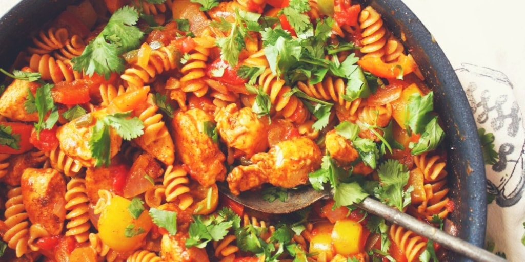 Mexican-Style Single Skillet Chicken and Pasta