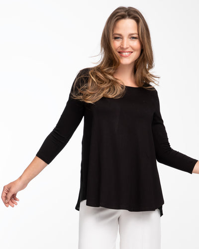 Black tulip nursing top by Peachymama 1