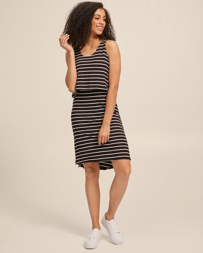 Black & White Stripe Singlet Nursing Dress