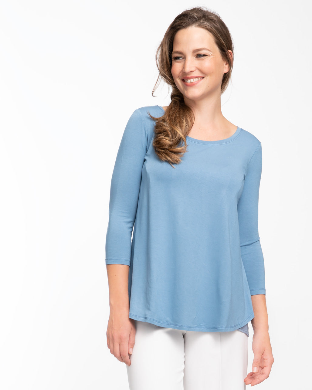Blue tulip nursing top by Peachymama 1