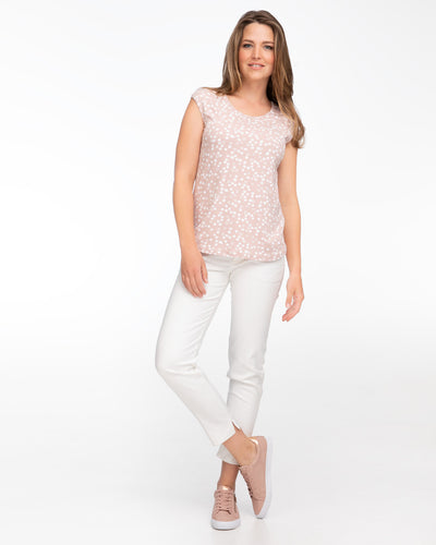 Blush polkadot nursing top by Peachymama 2