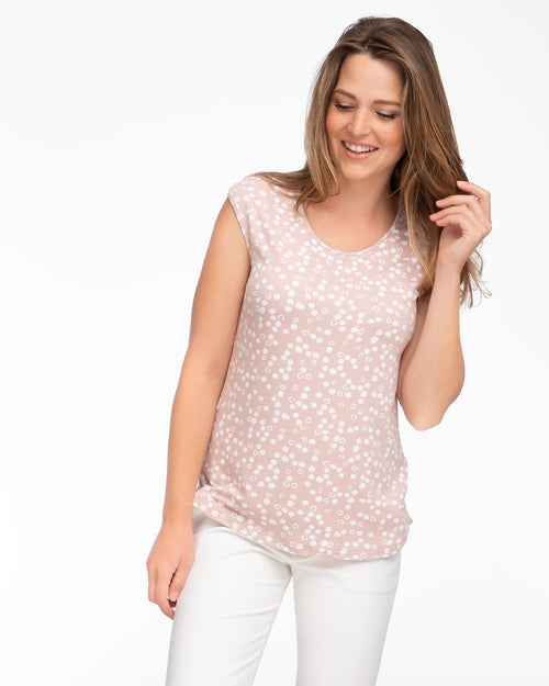 Blush polkadot nursing top by Peachymama 1